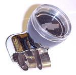 1937 Brodie knob, chrome with bowtie emblem