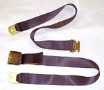 1970 Lap seat belt, black webbing
