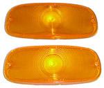 1958 Parklight lenses, amber plastic