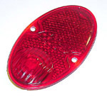 1937 Taillight lens, red