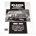 1970 Blazer and Jimmy Limited Edition Extra book, softbound