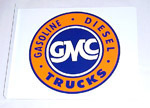 1970 Metal sign with GMC decal, 17 inches by 14 inches