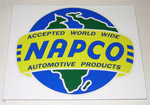 1970 Metal sign with NAPCO (4x4) decal, 17 inches by 14 inches