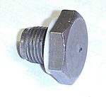 1970 Oil drain plug with washer, 216 L6 engine