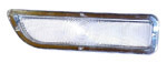 1962 Parklight lens, clear plastic with silver edge