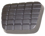 1970 Pedal pad for brake or clutch pedal, waffle design