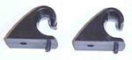 1970 Hooks for the sunvisor bracket to rest in, black