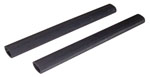1937 Tailgate chain covers, black rubber