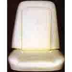 1970 Bucket seat back & bottom foam, one seat