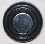 1970 Wiper knob, black and stainless