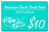 1961 Gift certificate - $10.00 value