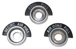 1963-1966 Air conditioning control bezels