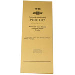 1936 Advertised Delivered Prices booklet