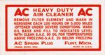 1960-1962 Air filter decal