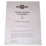 1964 Custom features booklet