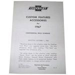 1967 Custom features booklet
