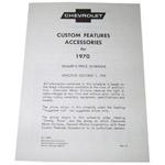 1970 Custom features booklet