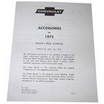 1972 Custom features booklet