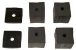 1947-1953 Bed mounting blocks (4 rubber)  and pads (2 rubber)