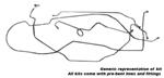 1954-1955 Manual drum brake lines