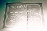 1934-1939 Air cleaner decal