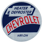 1954-1955 Factory heater decal