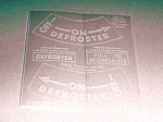 1947-1955 Heater instruction decals