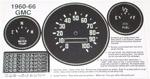 1960-1966 Gauge cluster refacing decals