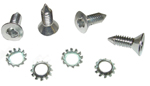 1947-1951 Outside door handle clutch head chrome screws with lock washers