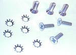 1967-1972 Door latch screws (6) and washers (6)