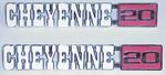 1971-1972 Fender emblems