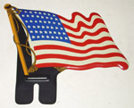 1936-1991 United States metal flag
