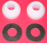 1931-1936 Nylon spacer and washer for end bumper bolts