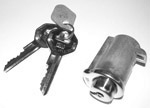 1954-1972 Glovebox lock and 2 GM original style keys