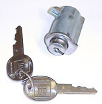 1954-1972 Glovebox lock and 2 GM oval head keys