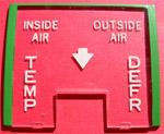 1955-1959 Deluxe heater control lens