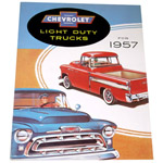 1957 Sales brochure for light duty trucks