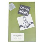 1941-1955 Rear axle overhaul manual