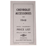 1948 Accessory listing