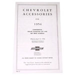 1954 Accessory listing