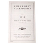 1952 Accessory listing