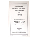 1942 Accessory listing