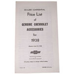 1938 Accessory listing