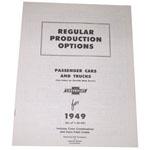 1949 Regular production options booklet