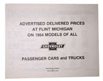 1954 Advertised Delivered Prices booklet