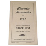 1947 Accessory listing