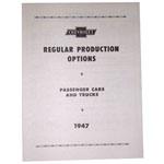 1947 Regular production options booklet