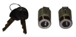 1988-1994 (Late 1988) Door lock cylinders with 2 black square head GM keys