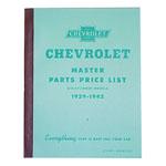 1929-1942 Master parts price list