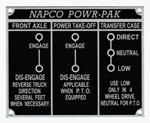 1954-1959 Napco Powr-Pak shift pattern plate